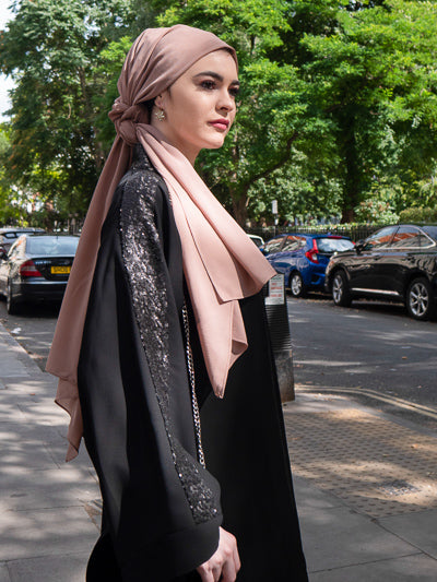 Best Abaya For Wedding UK in Black with Sequins