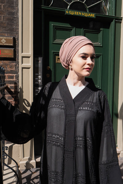 How To Make Clothes Modest Black Sheer Abaya Outer
