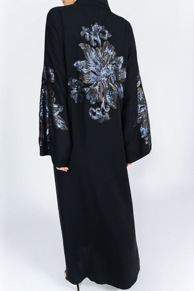 Best Abaya For Wedding UK with Sequins on the Back
