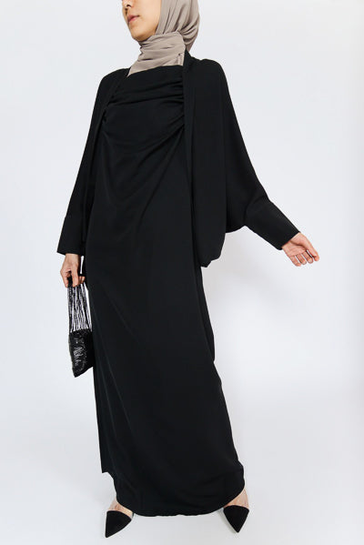 affordable black long dress with hijab