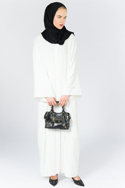 How To Make Clothes Modest White Abaya Dress