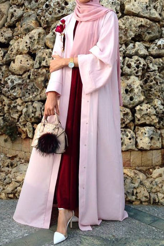 Reasons to Wear an Abaya Open Pink with Flowers