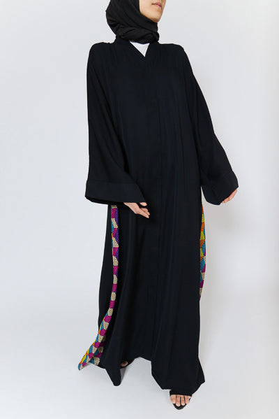 Best Hijabs and Abayas Occasions Black with Colourful Sides