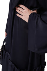 Everyday open front designer modern abaya