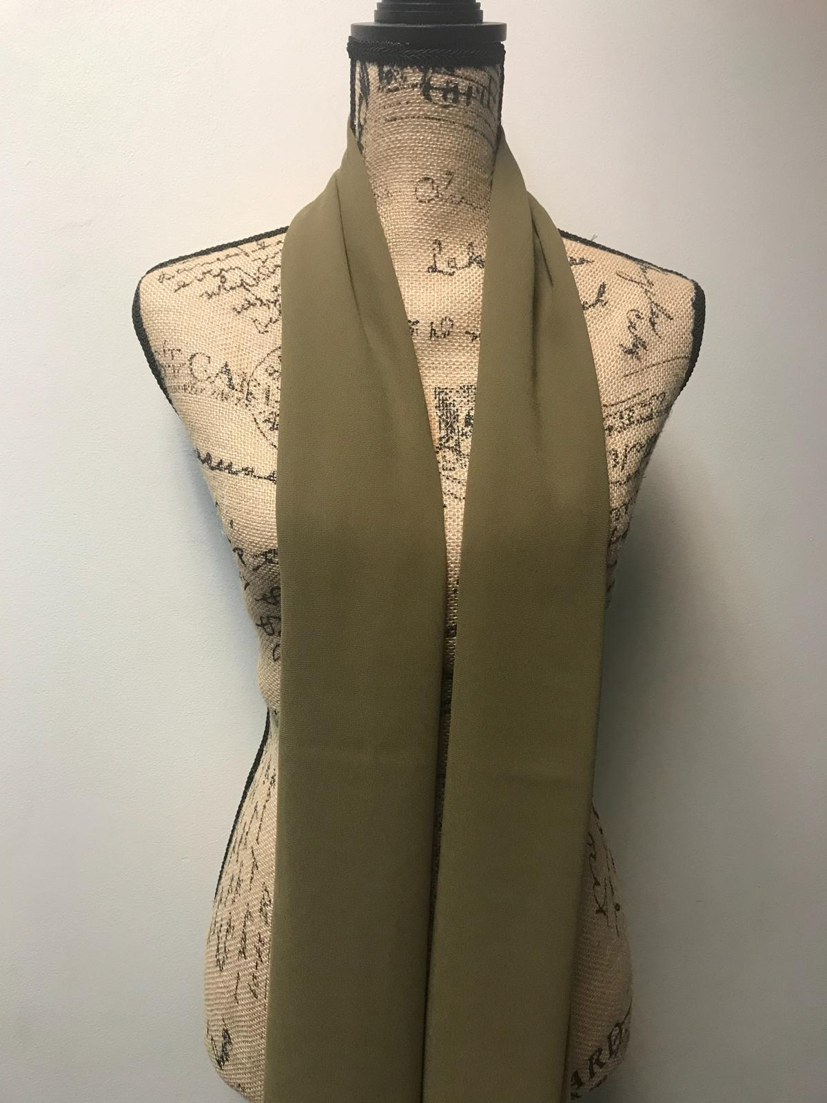 FERADJE London Chiffon Hijab Light Olive