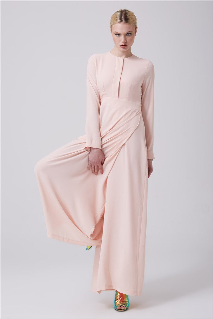 1bbcee8c7a76 FERADJE London Bushra Jumpsuit blush UK