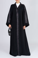 Feradje Closed Black Sequins Abaya