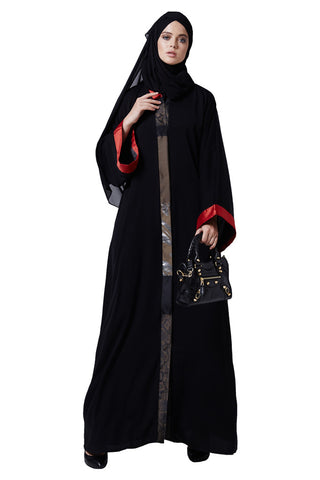 Top-quality casual open front designer modern abaya