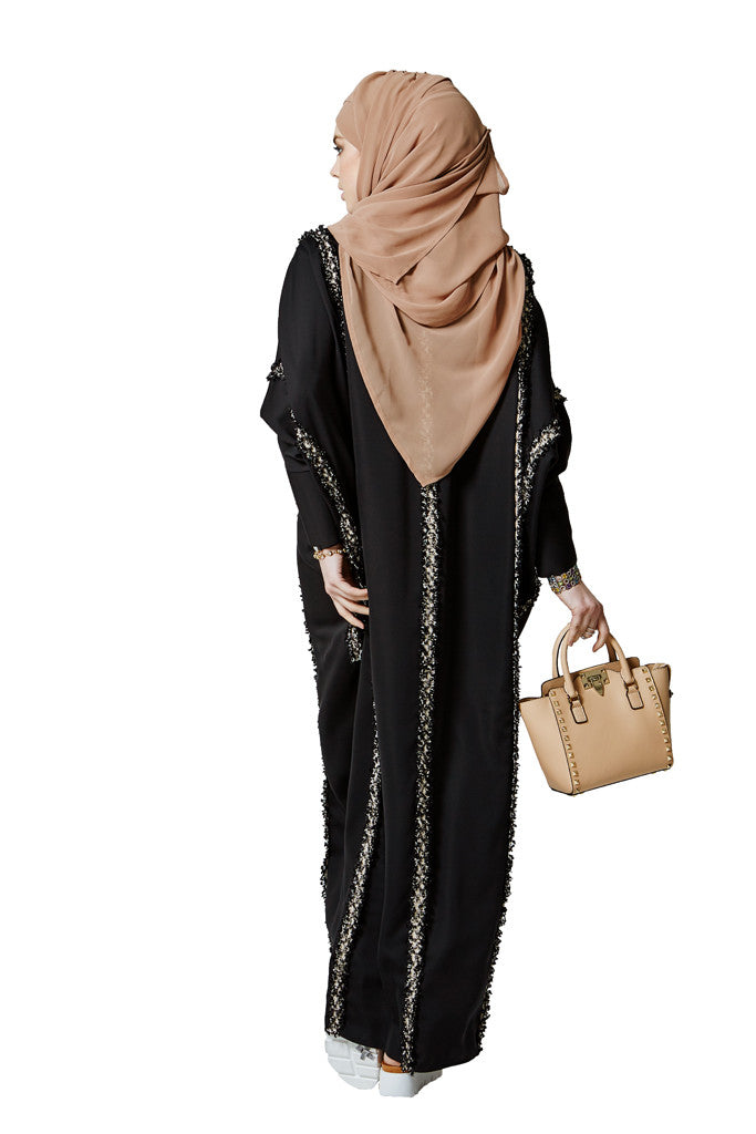 Everyday zipped designer modern abaya