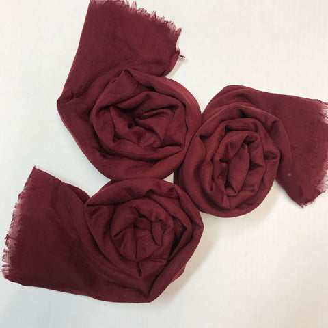 SILK COTTON HIJAB MAROON