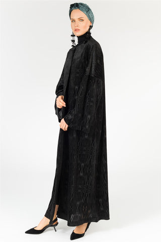 FERADJE London Azetek Velvet Abaya UK