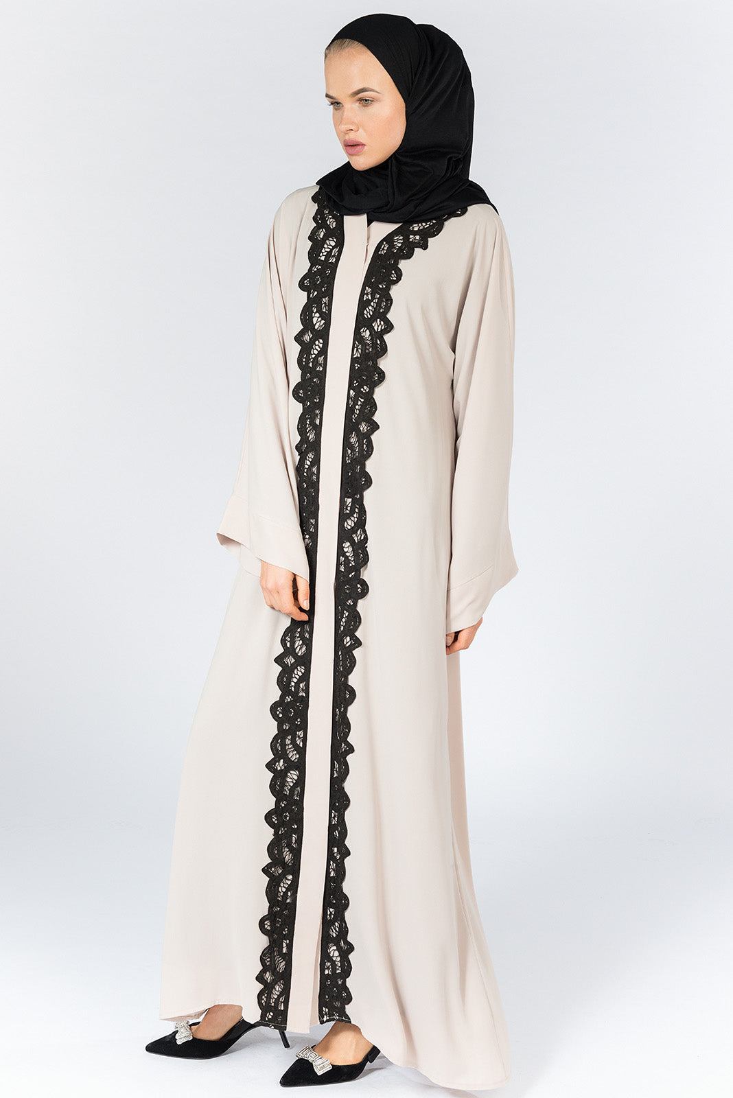 FERADJE London Battenburg Abaya Beige UK