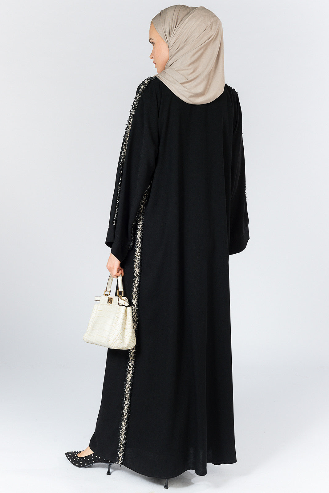 FERADJE London Huda abaya black UK