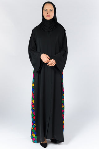 FERADJE London Tribal abaya UK