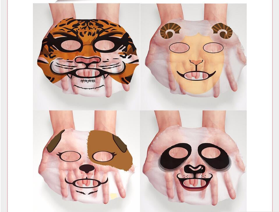 Face Nice Bioaqua Tiger Panda Sheep Dog Face Mask Deep Moisturizing Sheet Mask Oil Control Hydrating Face Skin Mask Woman Facial Mask