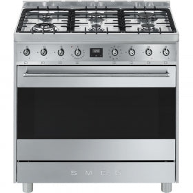 Smeg 90cm Gas-Electric Cooker 6 Burner