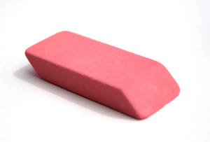 Erasers, Large Pink, pack of 3