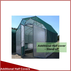 Stand Off Half Covers for 2400mm (8') Wide Split Roof Greenhouses
