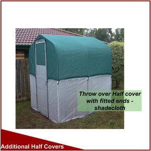 Shade Cloth Half Covers for 1800mm (6') Wide Greenhouses