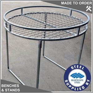 Round Bench with Top Rail. Size:  1000mm diameter.