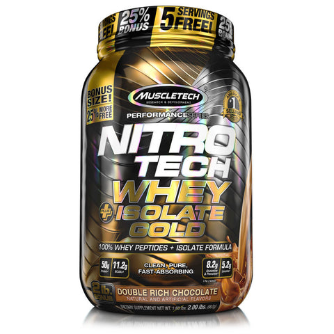 Muscletech - Nitrotech Whey + Isolate Gold