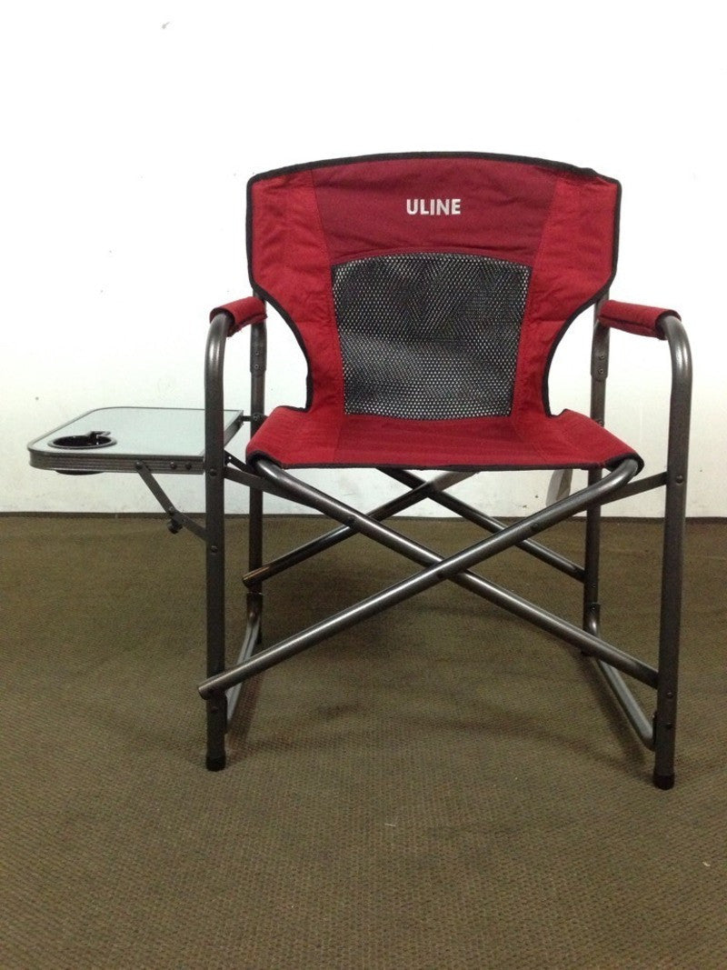 uline folding canvas and metal director s chair the local flea