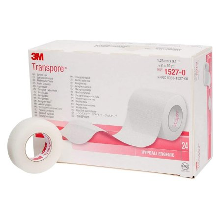 3M™ Transpore™ Medical Tape Plastic 1/2 Inch X 10 Yards NonSterile One Each