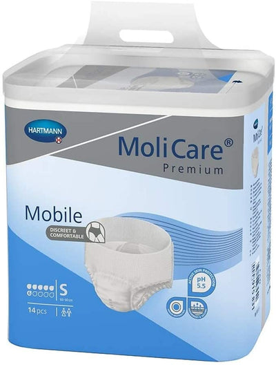 MoliCare Premium Mobile Underwear, Small, Case/56 (4/14s)