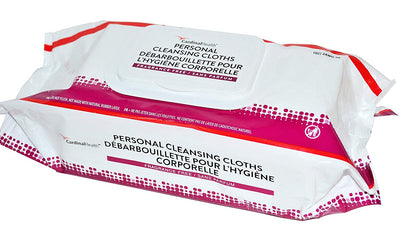 Cardinal Health 2AWU-96 Personal Cleansing Wipe, Non-Flushable, Fragrance Free, 9 X 13IN - 1 case of 6 paks