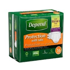 Depend® Fitted Maximum Protection Briefs With Refastenable Tabs