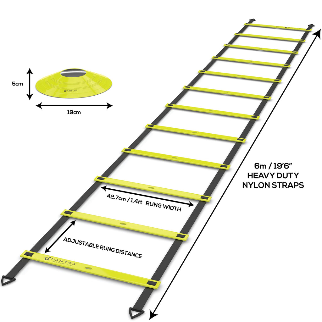 measurement of agility ladder and speed cones