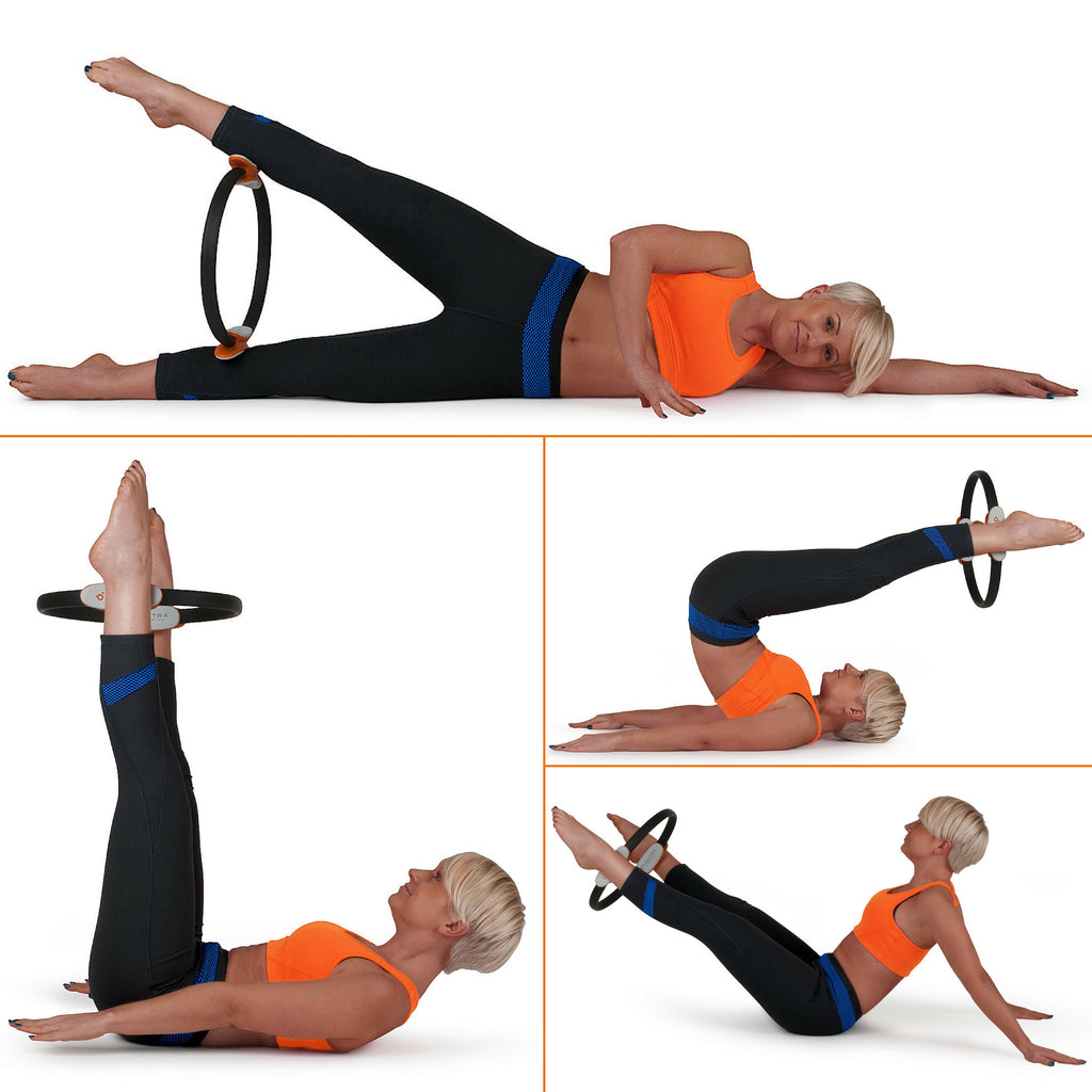 different positions where you can use the Pilates Ring Magic Fitness Circle