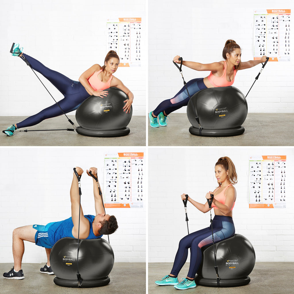 different position where you can use the exercise ball chair