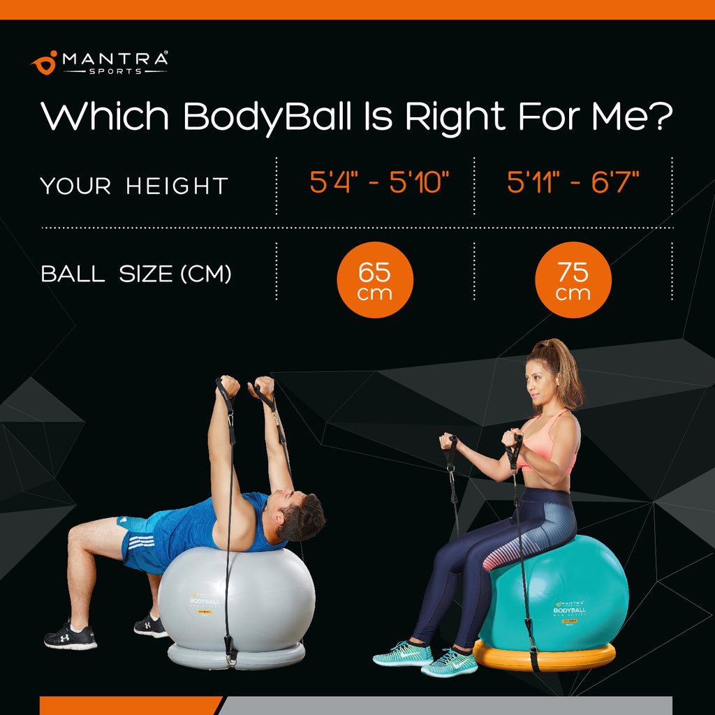 exercise ball chair sizes