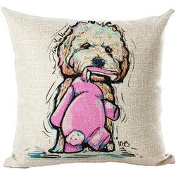 2017 Dog Cushion Cover - Cheeky - 45 X 45CM - New York Looks
