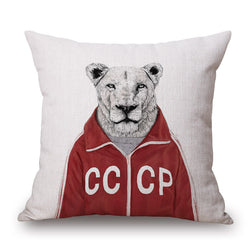 ANIMAL MRS LION FUN CUSHION COVERS - 45CM X 45CM - New York Looks
