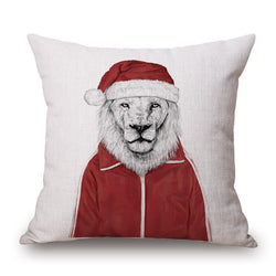 ANIMAL SANTA FUN CUSHION COVERS - 45CM X 45CM - New York Looks