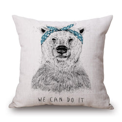 ANIMAL BEAR CUSHION COVERS - 45CM X 45CM - New York Looks