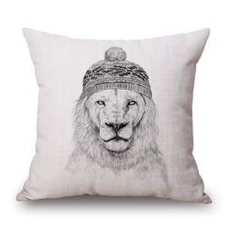 ANIMAL LION FUN CUSHION COVERS - 45CM X 45CM - New York Looks