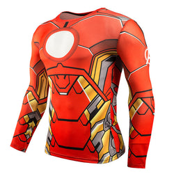 Iron Man 3D Superhero / Mens Fitness Compression Shirt / Crossfit Tops - New York Looks