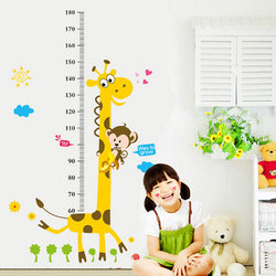 Kids Height Chart Wall Sticker home Decor Cartoon Giraffe Height Ruler - New York Looks