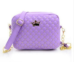 Women Pu Zipper Rivet Crossbody - New York Looks
