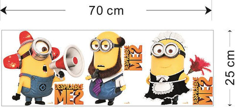 Despicable Me 2 Minion Movie Decal Cartoon Removable Wall Sticker - New York Looks