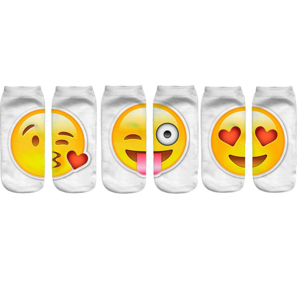 Women Spock / Pair 3 Pairs / 3D Emoji Expression Sock - New York Looks