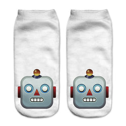 Funny Cartoon Emoji 3D Printed Socks - New York Looks