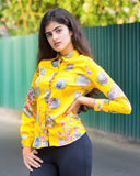 Yellow Santorini Silk Shirt LKR 2,290.00