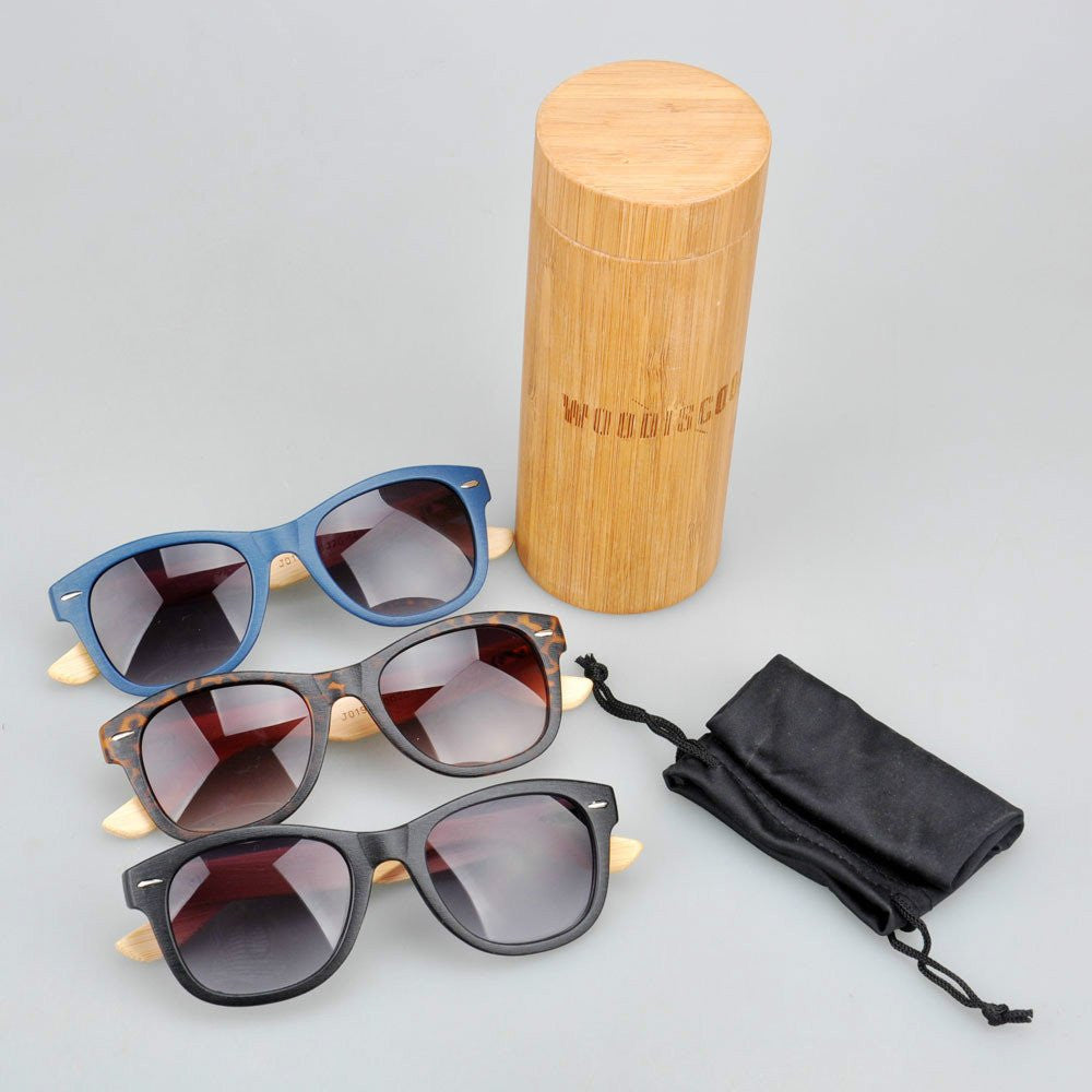 Bamboo sunglasses package deal, 58 pieces.