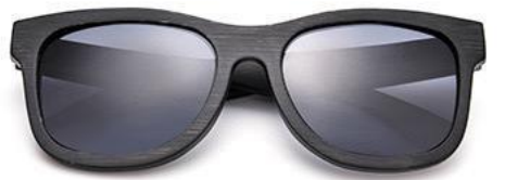GT Bamboo Handmade Bamboo Sunglasses Black Stain Frames Grey lenses - GT Bamboo and More