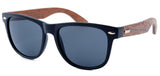 GT Bamboo sunglasses Black frame Zebra wood arms Smoke UV 400 protection lenses - GT Bamboo and More