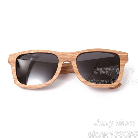 BerWer Zebra Wood Sunglasses Bamboo and Wooden Sunglasses - GT Bamboo and More